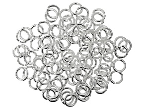 Silver Tone Round Jump Ring 16 Gauge Appx 5mm Appx 100 Pieces