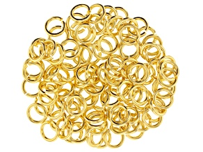 Gold Tone Round Jump Ring 16 Gauge Appx 5mm Appx 100 Pieces