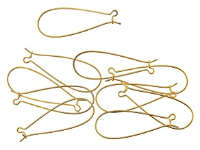 Vintaj Long Arched Ear Wire in 10k Gold Over Brass Appx 45x17mm Appx 10 Pieces