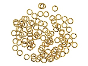Vintaj 19 Gauge Jump Rings in 10k Gold Over Brass Appx 4mm Appx 100 Pieces