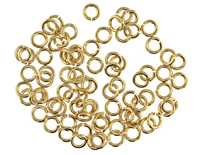 Vintaj 18 Gauge Jump Rings in 10k Gold Over Brass Appx 5mm Appx 80 Pieces