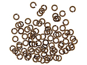 Vintaj 18 Gauge Jump Rings in Antiqued Bronze Over Brass Appx 5mm Appx 90 Pieces