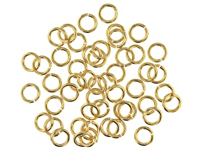 Vintaj 16 Gauge Jump Rings in 10k Gold Over Brass Appx 7mm Appx 50 Pieces