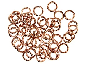 Vintaj 16 Gauge Jump Rings in Rose Gold Tone Over Brass Appx 7mm Appx 50 Pieces