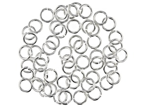 Vintaj 16 Gauge Jump Rings in Sterling Silver Over Brass Appx 7mm Appx 56 Pieces