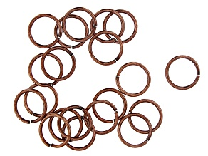 Vintaj 15 Gauge Jump Rings in Antiqued Copper Over Brass Appx 15mm Appx 20 Pieces