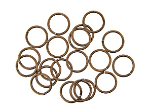 Vintaj 15 Gauge Jump Rings in Antiqued Bronze Over Brass Appx 15mm Appx 20 Pieces