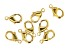 Vintaj Lobster Style Clasp in 10k Gold Over Brass Appx 9mm Appx 8 Pieces