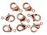 Vintaj Lobster Style Clasp in Rose Gold Tone Over Brass Appx 9mm Appx 8 Pieces