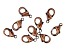 Vintaj Lobster Style Clasp in Antiqued Copper Over Brass Appx 9mm Appx 9 Pieces