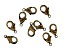 Vintaj Lobster Style Clasp in Antiqued Bronze Over Brass Appx 9mm Appx 9 Pieces