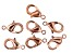 Vintaj Lobster Style Clasp in Rose Gold Tone Over Brass Appx 12mm Appx 7 Pieces