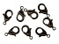 Vintaj Lobster Style Clasp in Black Hematite Tone Over Brass Appx 12mm Appx 8 Pieces
