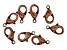 Vintaj Lobster Style Clasp in Antiqued Copper Over Brass Appx 12mm Appx 8 Pieces