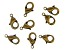 Vintaj Lobster Style Clasp in Antiqued Bronze Over Brass Appx 12mm Appx 8 Pieces