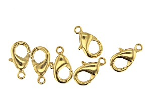 Vintaj Lobster Style Clasp in 10k Gold Over Brass Appx 15mm Appx 6 Pieces