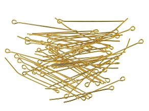 """Vintaj Eye Pins in 10k Gold Over Brass Appx 1.5"""" in length Appx 55 Pieces"""