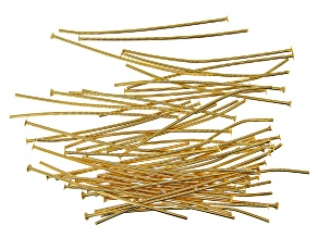 """Vintaj Head Pins in 10k Gold Over Brass Appx 1.5"""" in length Appx 60 Pieces"""