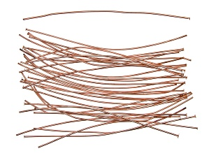 """Vintaj Head Pins in Rose Gold Tone Over Brass Appx 3"""" in length Appx 40 Pieces"""
