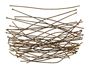 """Vintaj Head Pins in Antiqued Bronze Over Brass Appx 3"""" in length Appx 45 Pieces"""