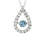 Blue and White Lab-Grown Diamond 14kt White Gold Dancing Pendant 1.25ctw