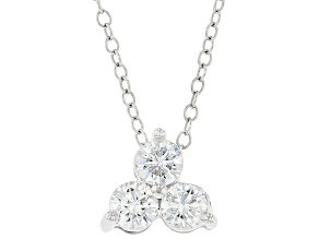 White lab-grown diamond, Rhodium over 14k White Gold Pendant 0.50ctw