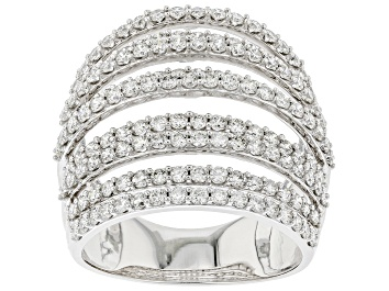 Picture of White Lab-Grown Diamond 14kt White Gold Ring 2.00ctw