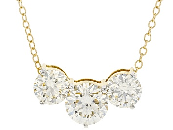 Picture of White Lab-Grown Diamond, 14kt Yellow Gold Necklace 2.00ctw