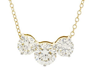 White Lab-Grown Diamond, 14kt Yellow Gold Necklace 2.00ctw