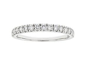 White Lab-Grown Diamond 14kt White Gold Ring 0.50ctw