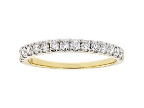 White Lab-Grown Diamond 14kt Yellow Gold Ring 0.50ctw