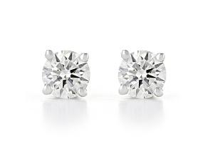 White Lab-Grown Diamond 14kt White Gold Stud Earrings 0.25ctw