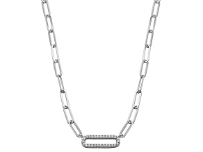White Cubic Zirconia Rhodium Over Sterling Silver Necklace (0.462 ctw DEW)
