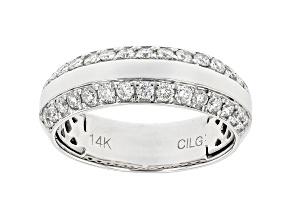 Men's White Lab-Grown Diamond 14kt White Gold Ring 1.00ctw