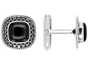 Black Onyx Sterling Silver Cuff Links