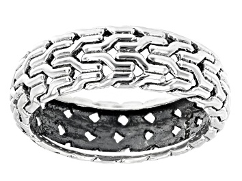 Picture of Mens Sterling Silver Band Ring