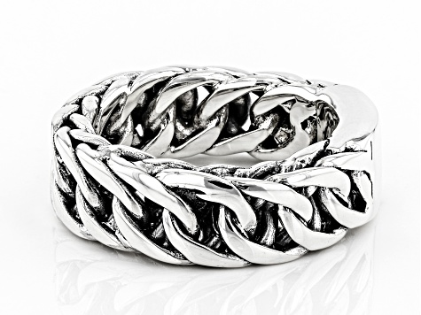 Mens Sterling Silver Band Ring