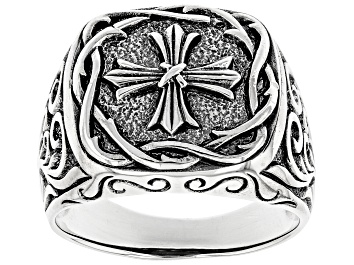 Picture of Mens Sterling Silver Cross Design Ring