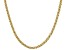 18k Yellow Gold Over Sterling Silver Unisex Designer Chain