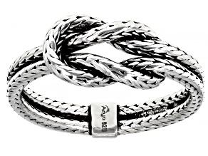 Men's Sterling Silver Twist Ring