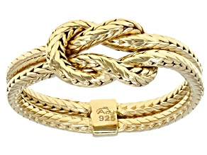 Mens 18k Yellow Gold Over Sterling Silver Twist Ring