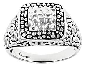 Sterling Silver Hammered Men's Ring