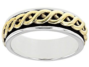 Picture of Sterling Silver and Brass Men's Band Ring