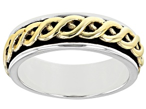 Sterling Silver and Brass Men's Band Ring