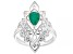 """Green Emerald """"May Birthstone"""" Sterling Silver Ring 0.58ct"""