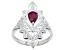"""Red Ruby """"July Birthstone"""" Sterling Silver Ring 0.88ct"""