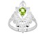 """Green Peridot """"August Birthstone"""" Sterling Silver Ring 0.63ct"""