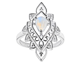 """Multi-Color Opal """"October Birthstone"""" Sterling Silver Ring 0.45ct"""