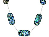 Abalone Shell Sterling Silver Necklace 15-30mm