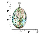 Abalone Shell Sterling Silver Enhancer 40-53mm